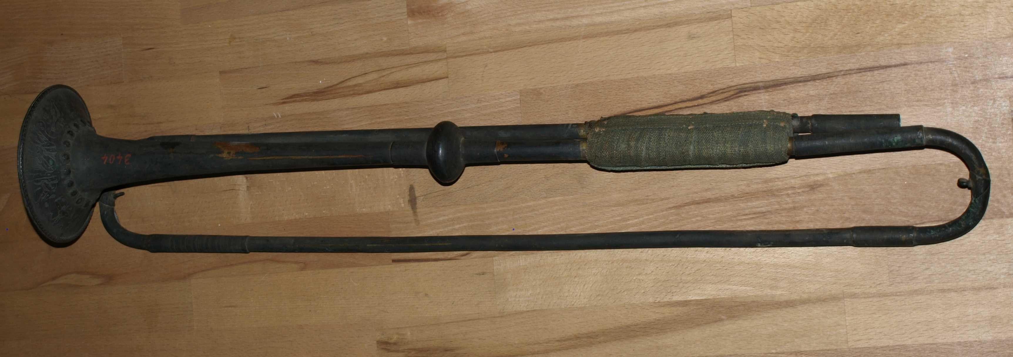 Tromba Jacob Schmidt prima del restauro effettuato da C. Bosc nel 2006.