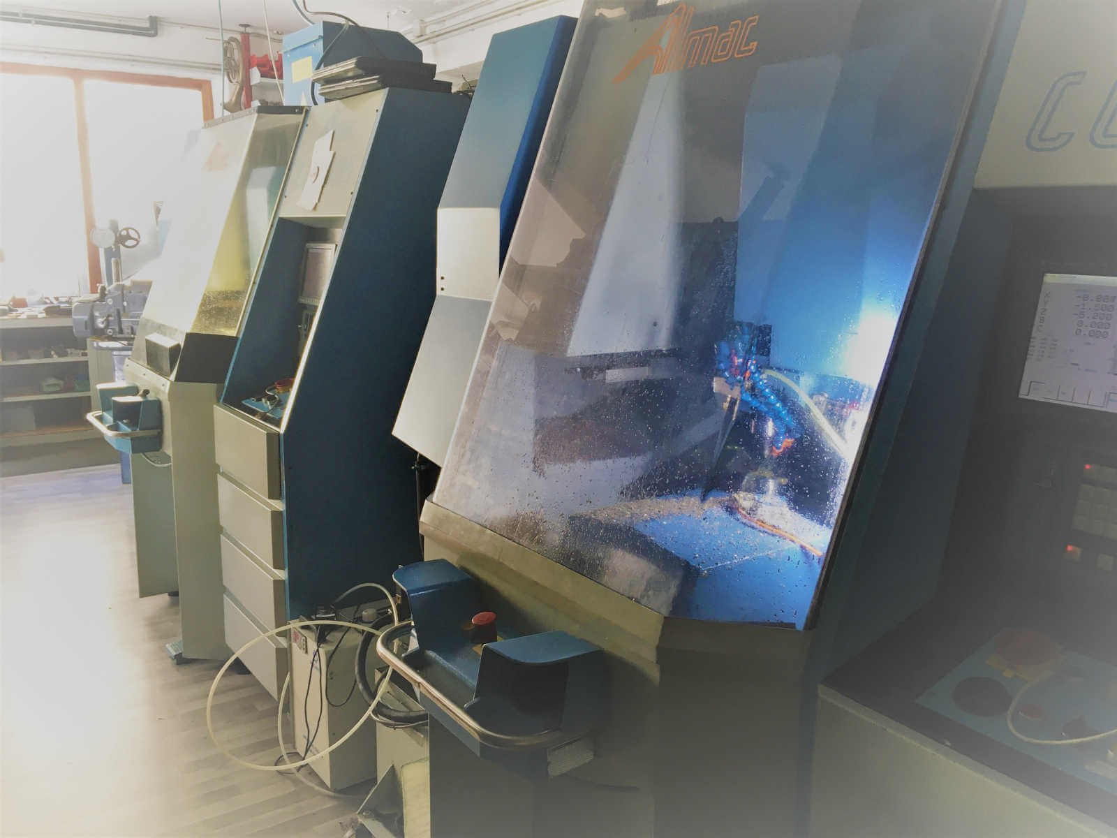 two almac cnc machines